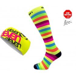 Set Compression Socken+Stirnband_Stripe