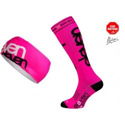 Set Compression Socken pink+Stirnband HB