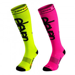Set-DUO Compression Socken pink+fluo