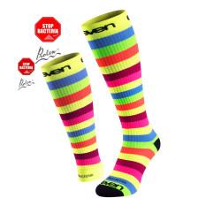 2.er SET Kompression-Socken lang+Sleev Stripe