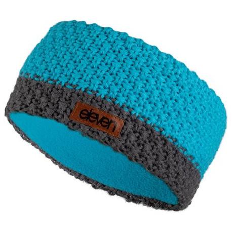 Stirnband gestrickt Eleven Blue/Grey