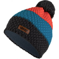 HAUBE gestrickt ELEVEN POM Orange/Grey