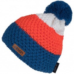 HAUBE gestrickt Eleven POM Orange/Blue