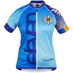 Damen Radtrikot EDELWEIS blue _ limited edit