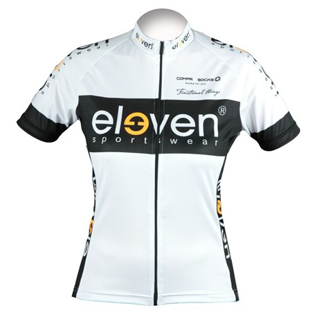 Cycling jersey HORIZONTAL woman white/black